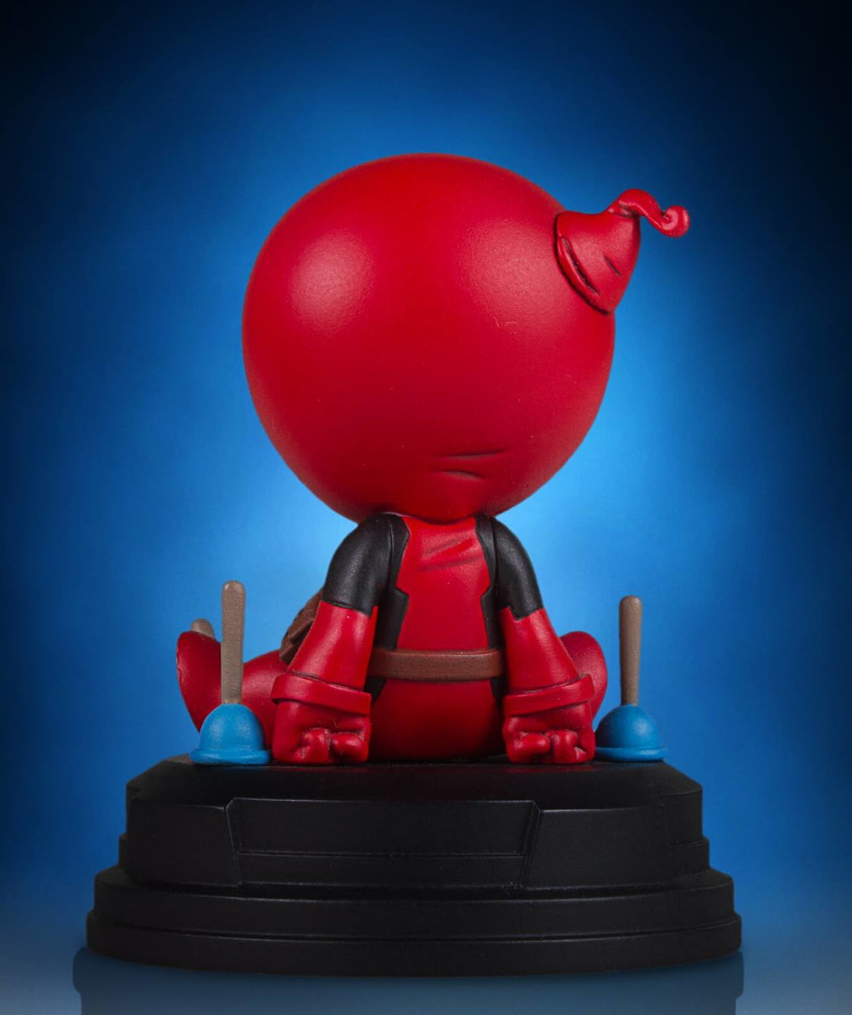 Back of Gentle Giant Marvel Animated Deadpool Statue