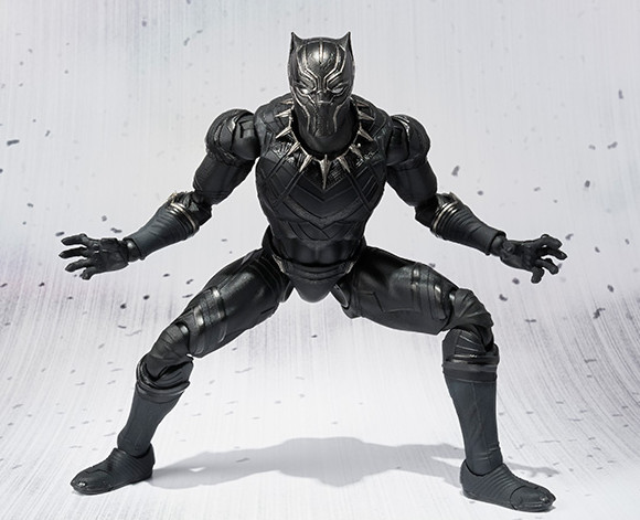 Bandai S.H. Figuarts Civil War Black Panther Six Inch Figure