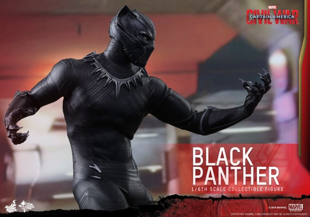Black Panther Hot Toys Figure with Claws Out