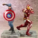 Kotobukiya Civil War Captain America & Iron Man ARTFX+ Statues!
