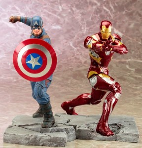 Captain America Civil War Kotobukiya ARTFX+ Statues