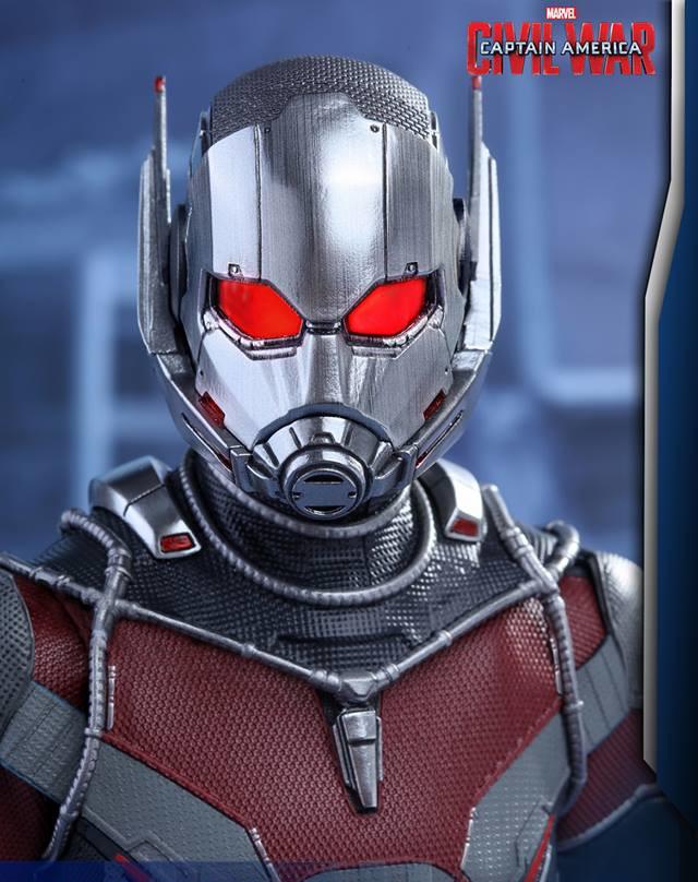 Civil War Hot Toys Ant-Man Helmet Close-Up
