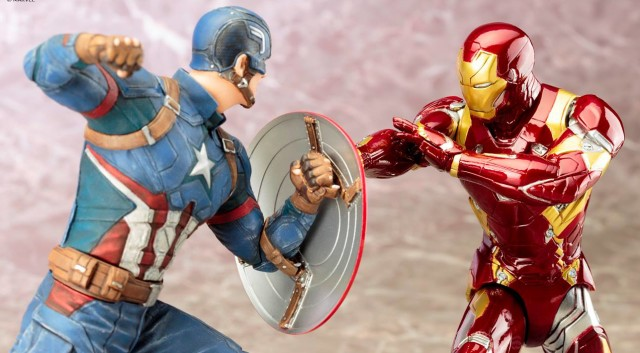 Civil War Kotobukiya Captain America and Iron Man ARTFX Statues