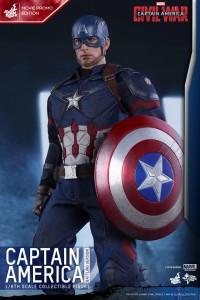 Civil War Movie Promo Captain America Battling Verison Hot Toys Sixth Scale Figure