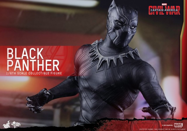Close-Up of Black Panther Hot Toys Figure Head Helmet