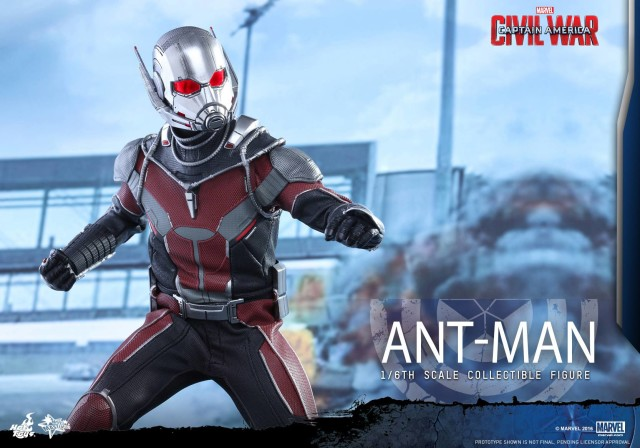 Close-Up of Hot Toys Ant Man Captain America Civil War Sixth Scale Figure