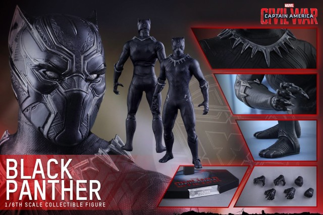 Hot Toys Black Panther Figure and Accessories