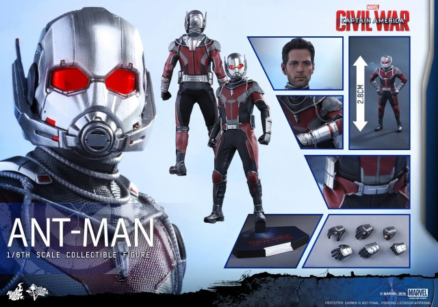 Hot Toys Captain America Civil War Ant-Man Figure and Accessories