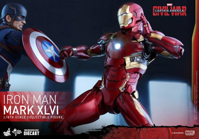 Hot Toys Captain America Civil War vs. Iron Man Die-Cast Figures