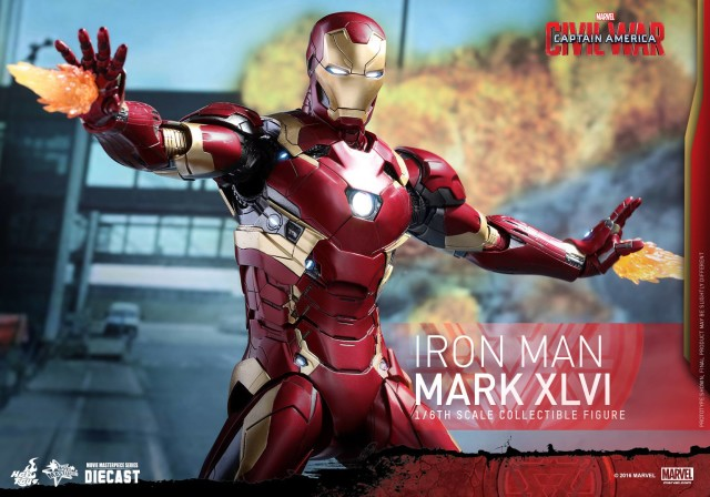 Hot Toys Civil War Iron Man Mark XLVI Die-Cast MMS Fire Effects