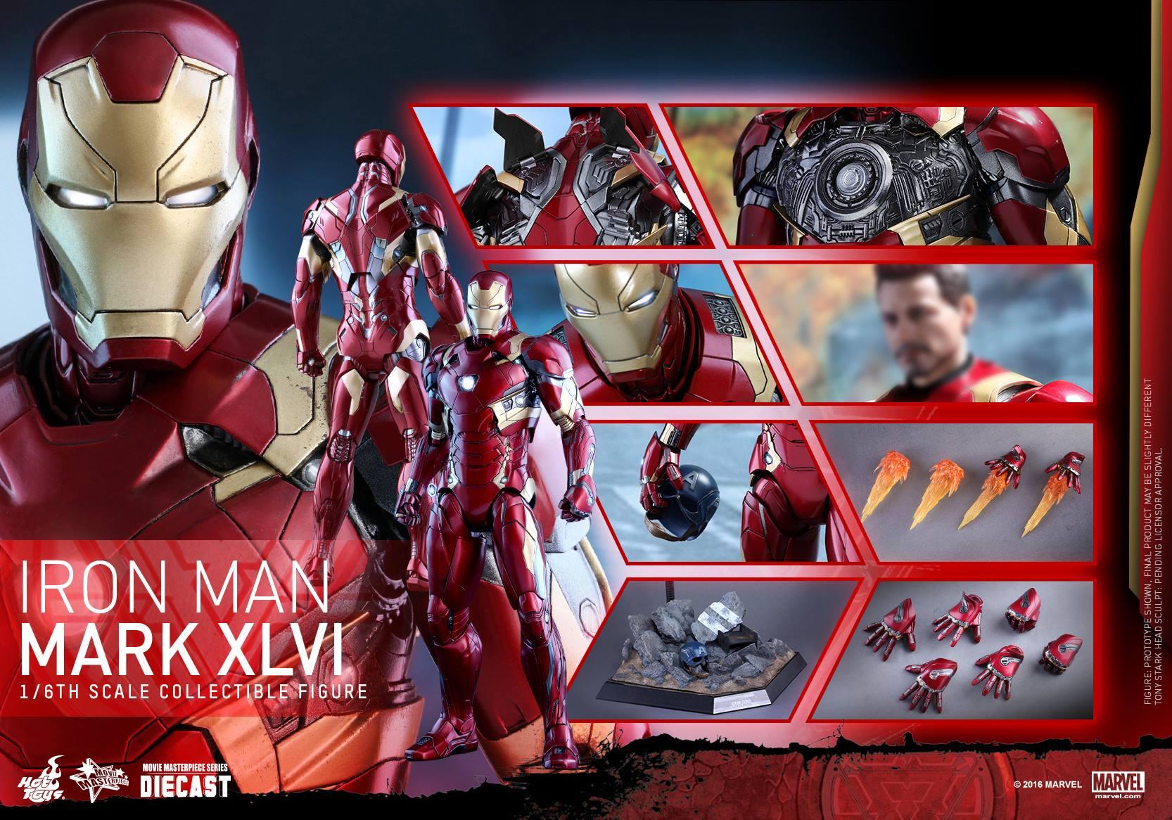 Hot Toys Civil War Iron Man Mark 46 Die-Cast Figure ...