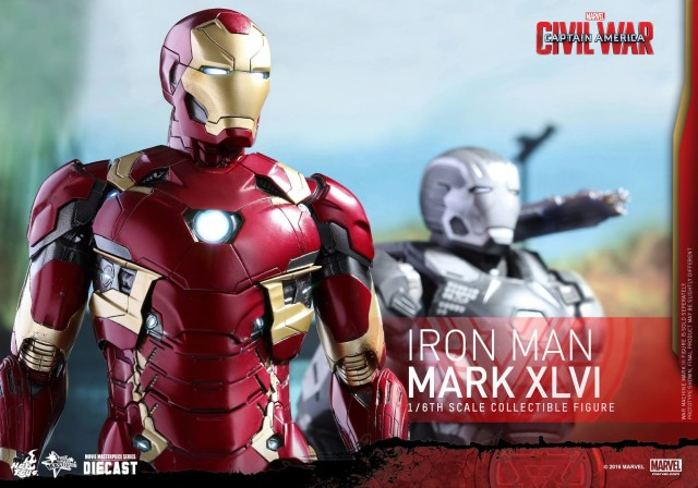 Hot Toys Iron Man Mark 46 Sixth Scale Figure Die-Cast