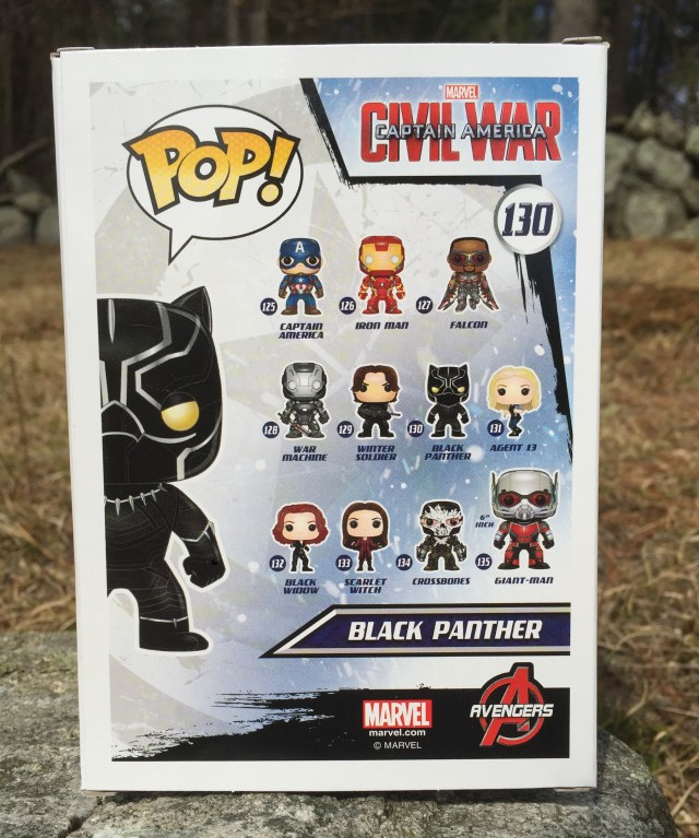 Box Back Funko Black Panther POP Figure