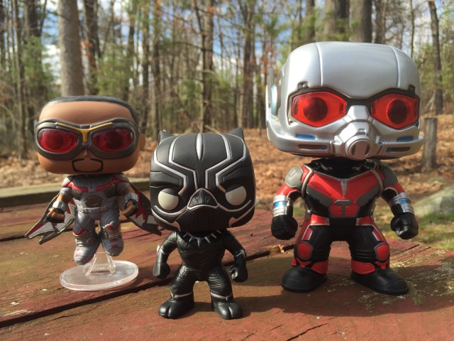 Marvel Civil War POP Vinyls Falcon Black Panther Giant-Man