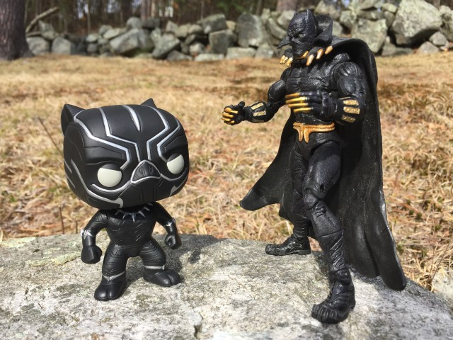 Marvel Legends Black Panther vs. Civil War POP Vinyls Black Panther
