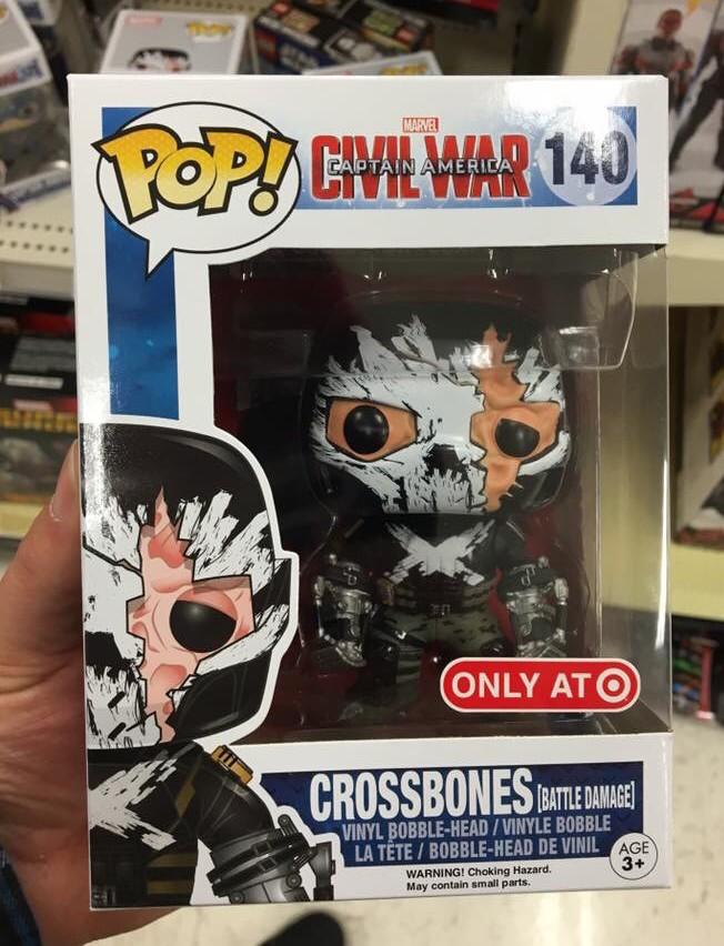 Funko Target Battle Damaged Crossbones Pop Vinyl Out Marvel Toy News