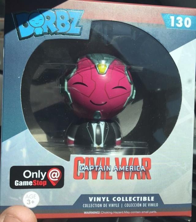 Gamestop Exclusive Dorbz Civil War Vision in Suit Vinyl Figure