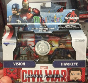 Toys R Us Exclusive Civil War Minimates Hawkeye Vision Pack