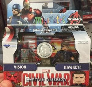 Toys R Us Exclusive Civil War Minimates Hawkeye Vision Pack