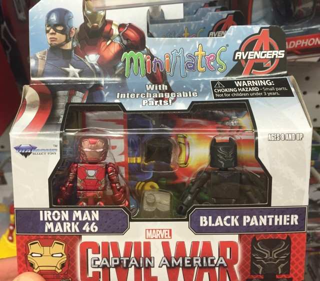 Marvel Minimates Black Panther & Iron Man Mark 46 Movie Figures