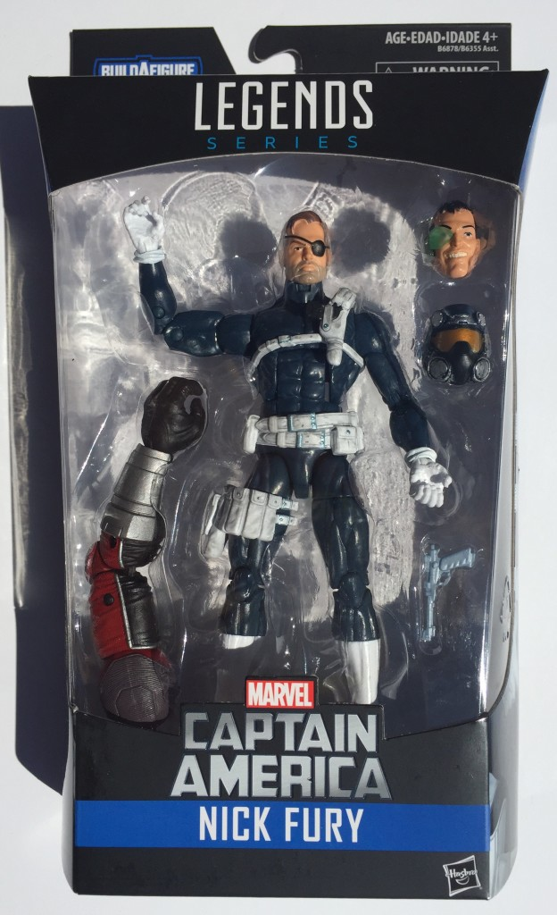 Hasbro Marvel Legends Nick Fury Six Inch Figure Packaged