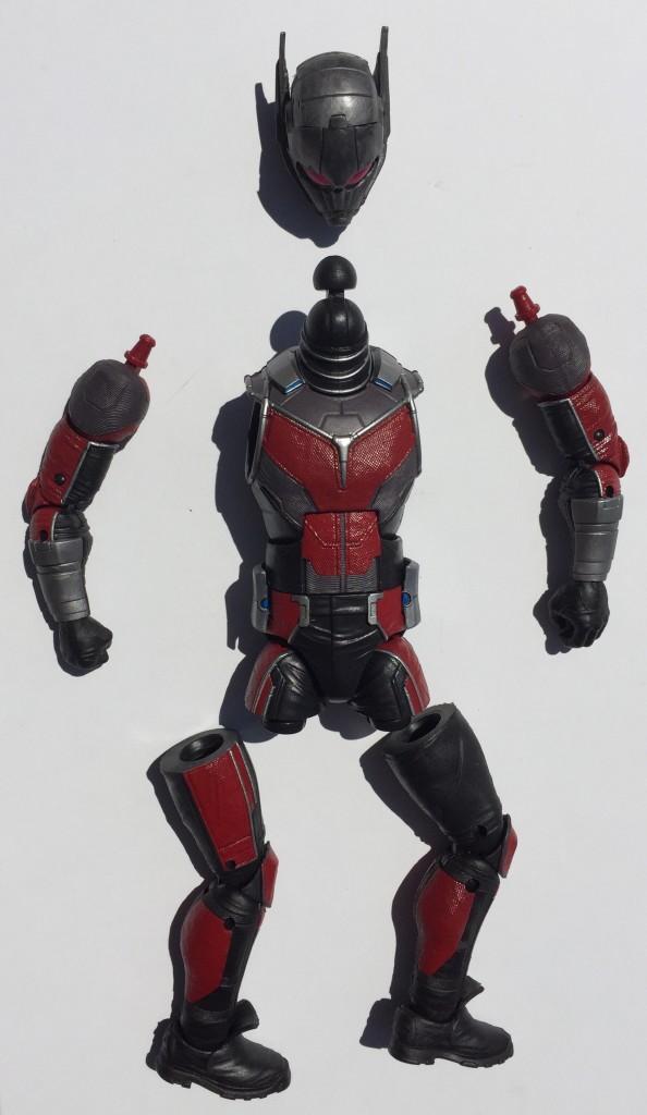 Unassembled Pieces of Marvel Legends Giant-Man Movie Figure