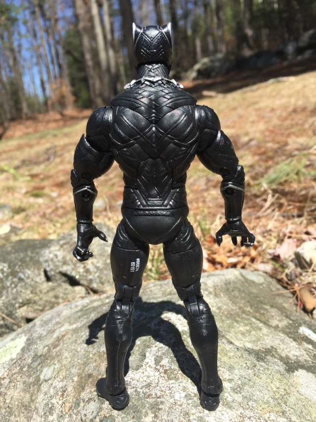 Back of Marvel Legends Civil War Black Panther Figure