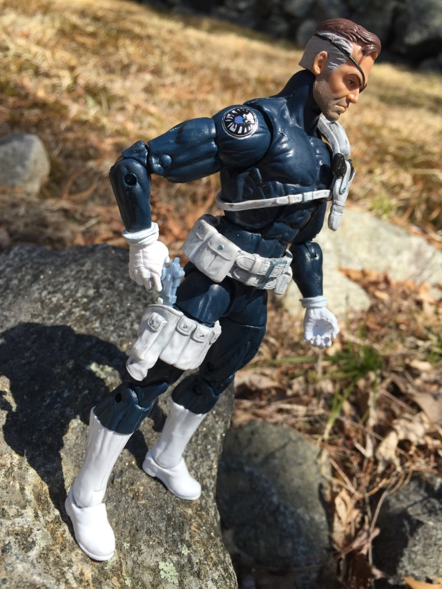 "SHIELD Logo on Shoulders of Nick Fury Marvel Legends 2016 6"" Figure"