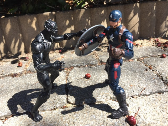 Captain America Legends Black Panther vs. Captain America Figures