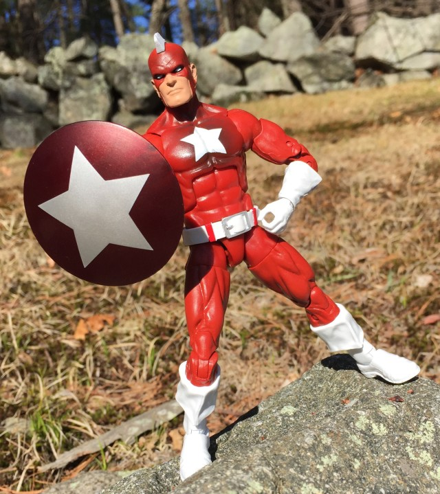 "Marvel Legends Civil War Red Guardian 6"" Figure with Shield"