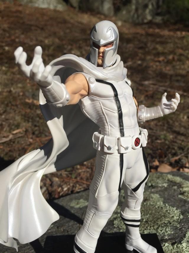 Close-Up of Marvel Now X-Men Kotobukiya Magneto White Costume Exclusive Figure