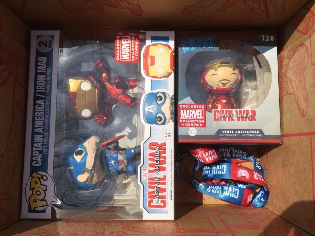 Funko Civil War Marvel Collector Corps Spoilers POP Vinyls