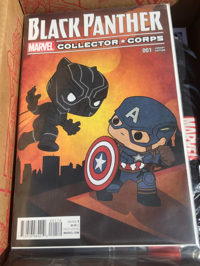 Marvel Collector Corps Black Panther #1 Variant Comic Book Cover