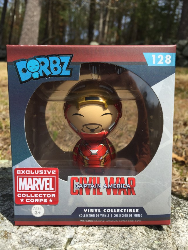 Marvel Collector Corps Unmasked Iron Man Dorbz Figure