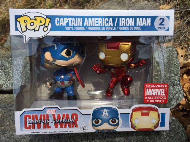 Marvel Collector Corps Civil War POP Vinyls Two-Pack Captain America Iron Man