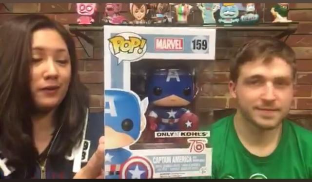 Captain America 75th Anniversary Kohl's Exclusive Funko Marvel POP 159