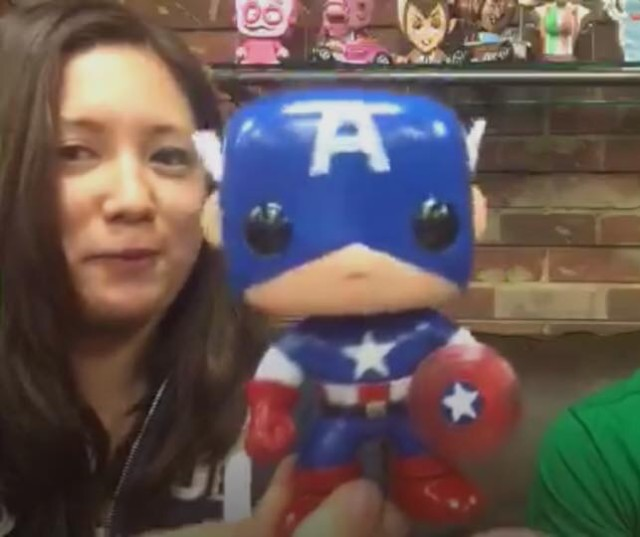 75th Anniversary Captain America Funko POP Vinyls Figure Out of Box