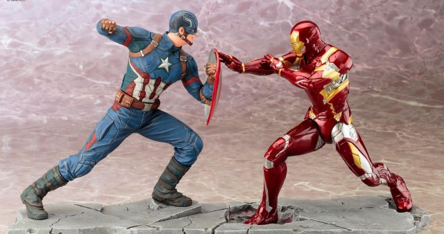 Kotobukiya Civil War Captain America vs. Iron Man ARTFX+ Statues