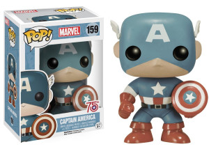 75th Anniversary Sepia Captain America POP Vinyls Figure