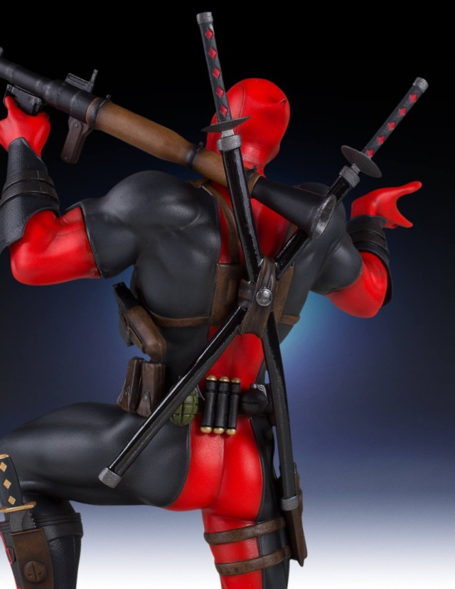 Back of Marvel Collectors Gallery Deadpool Statue