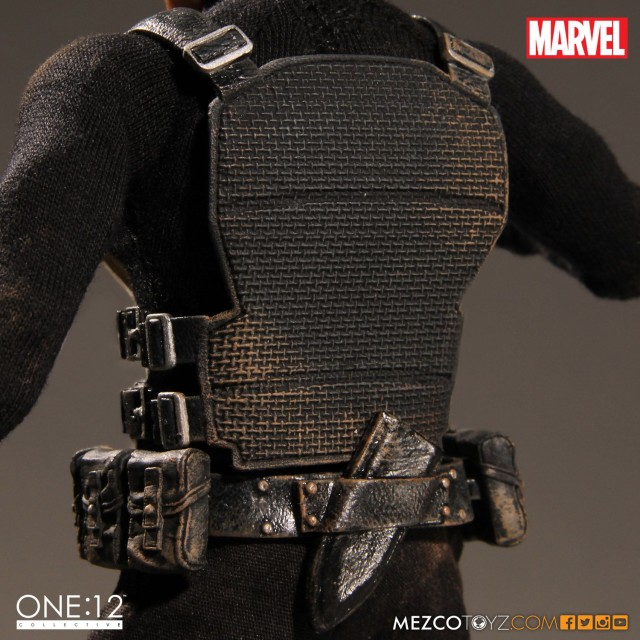 Back of Punisher Vest Mezco ONE 12 Collective December 2016