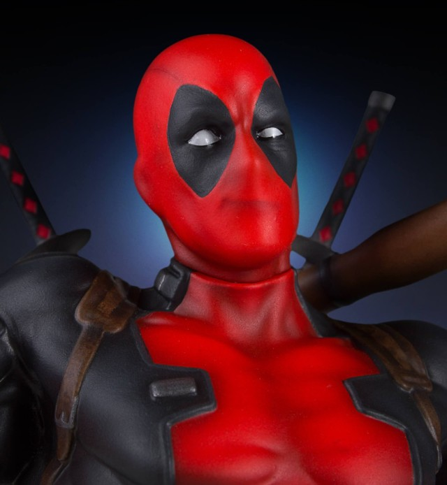 Close-Up of Deadpool Gentle Giant Statue 2017