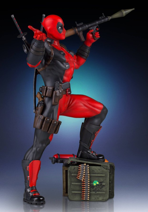 Gentle Giant Collectors Gallery Deadpool Statue Side View