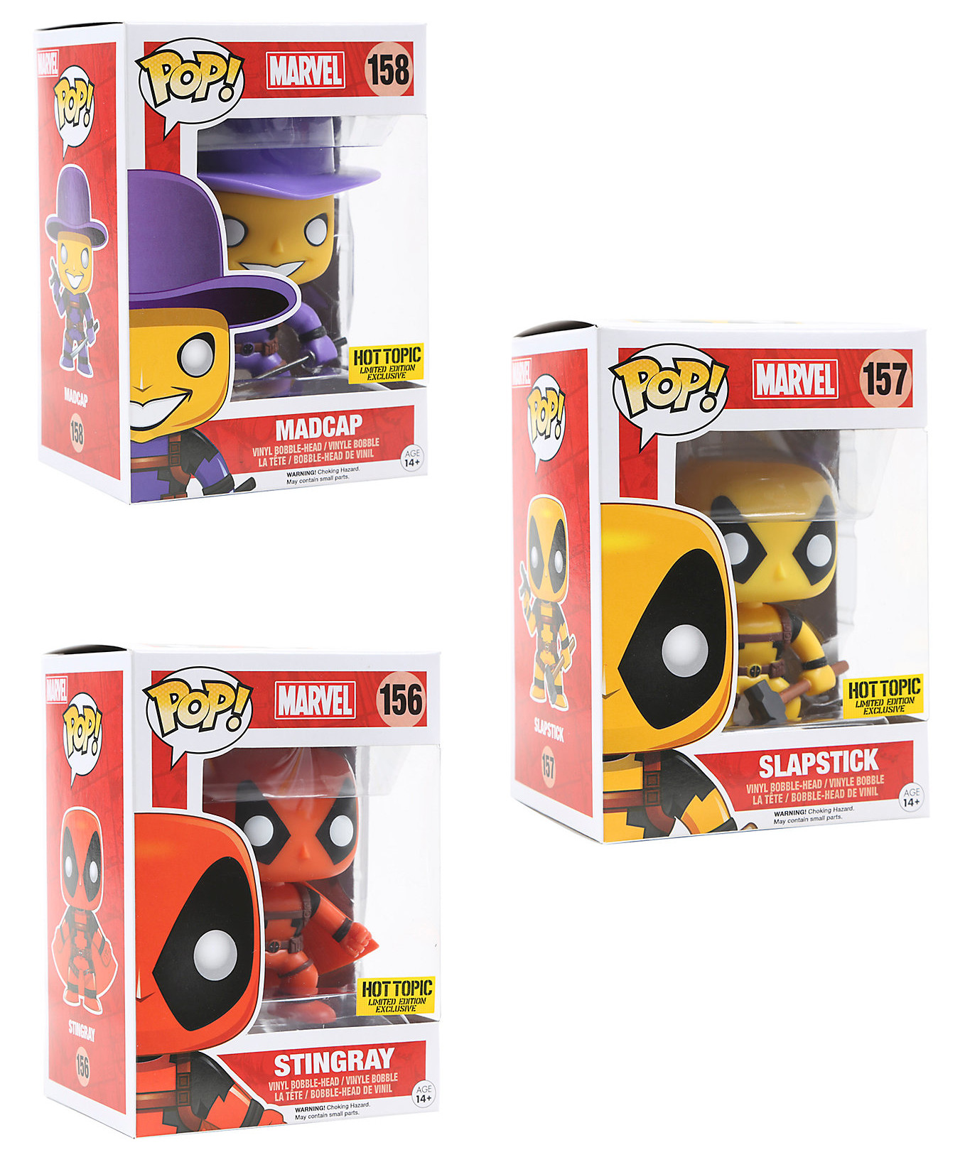 Toys From Hot Topic : Hot topic funko deadpool mystery pop vinyls series