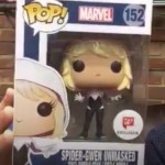 Unmasked Spider-Gwen & Sepia Captain America POP Vinyls!
