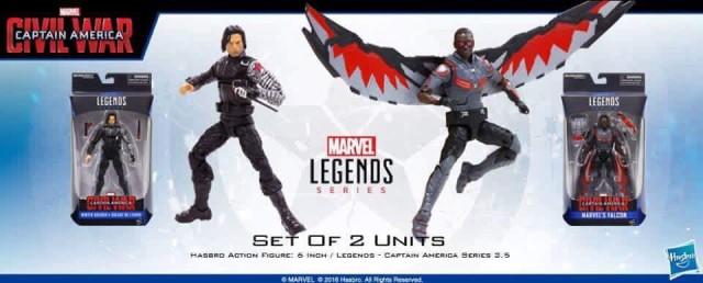 Marvel Legends Civil War Falcon and Winter Soldier Figures