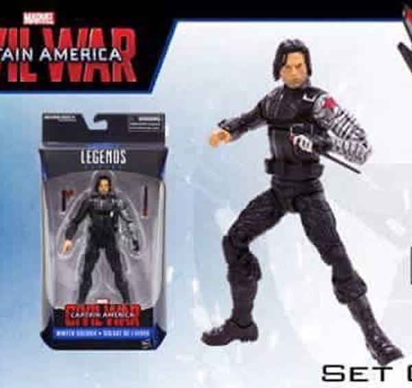 Marvel Legends Civil War Winter Soldier Figure Walmart Exclusive