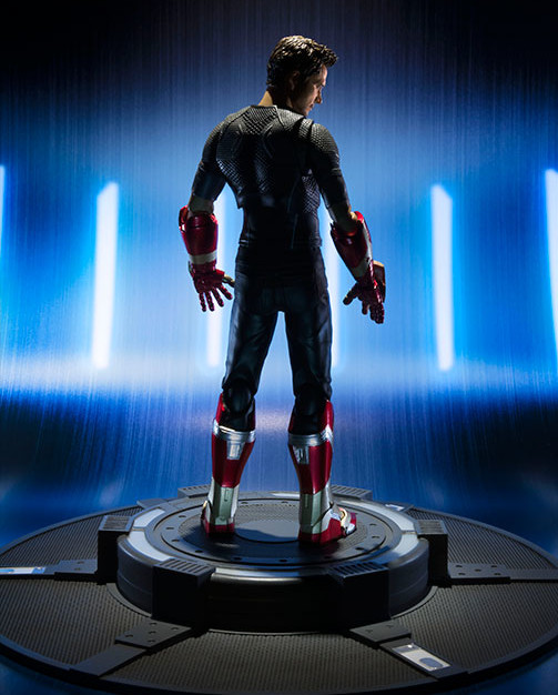 S.H. Figuarts Tony Stark Figure on Power Stage Base