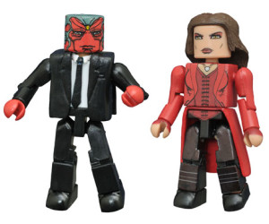 SDCC 2016 Exclusive Minimates Civil War Scarlet Witch Vision in Suit Figures