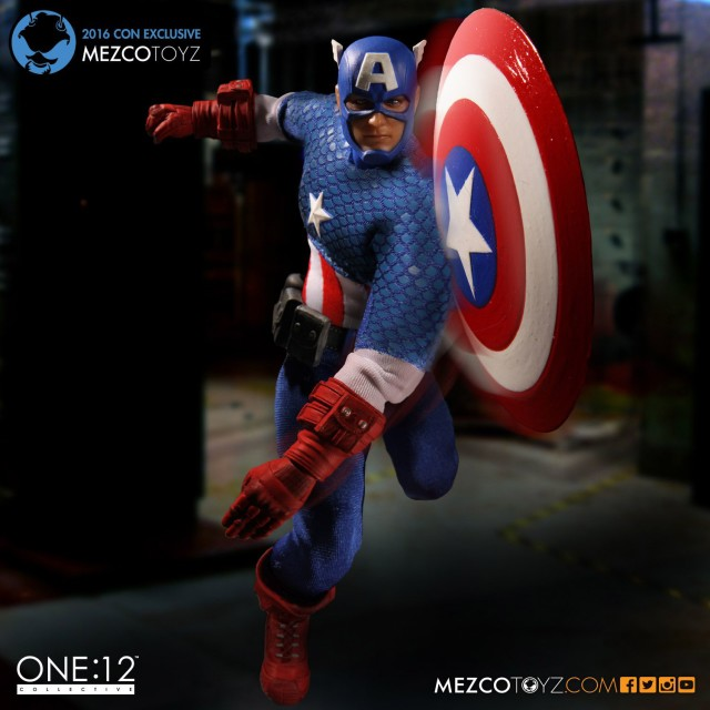 2016 SDCC Con Exclusive Captain America Classic Mezco Toyz Figure